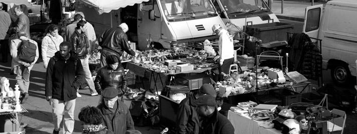 Le marché aux puces de Montreuil, Photo Isabelle Gaulon Paris 20