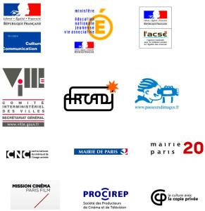 Partenaires du projet d'atelier de films documentaires Paris 20e