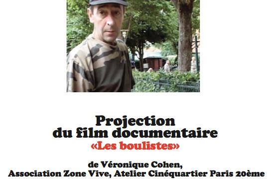 Projection du film Les boulistes / Zone Vive