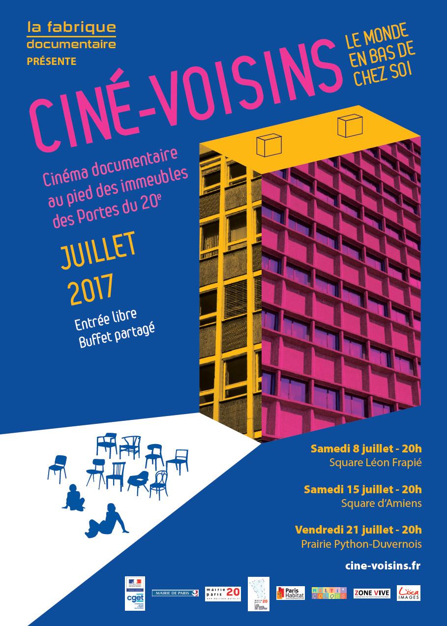 Festival Cié-Voisin 2017 : le cinéma en bas de chez vous à Paris 20éme avec Zone Vive