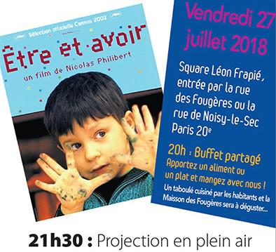 Visuel du film Etre et Avoir de Nicolas Philibert, projection Festival Ciné-Voisins 2018