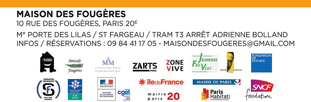 Maison des Fougères, 10 rue des Fougères 75020 Paris