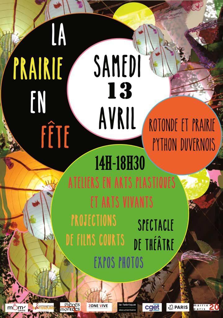 """Flyer de la journée """"Prairie en fête à Python"""" du samedi 13 avril 2019"""